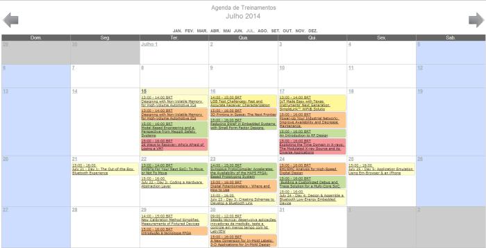 Agenda 14 a 18 Julho
