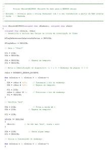 Rotina em C para escrita na E2PROM