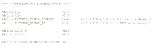 Exemplo de como definir mnemonicamente as variáveis