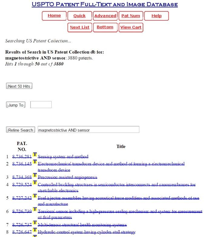 Pesquisa na base de patentes do USPTO