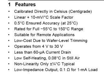 Especificacoes LM35