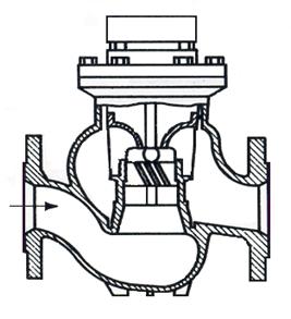 Figura 14 - Medidor tipo turbina Woltman vertical