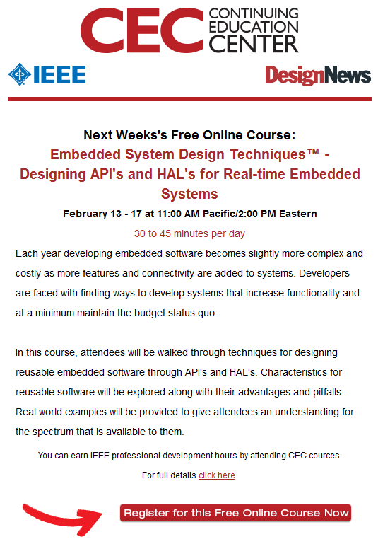 Embedded System Design Techniques™ – Designing API's and HAL's for Real-time Embedded Systems